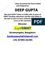 GMAT Intro Session Handout Solutions