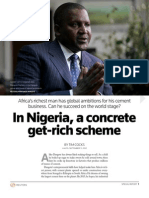 In Nigeria, a Concrete Get-Rich Scheme - The Dangote Story