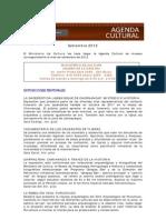 Agenda Cultural Museos Ministerio de Cultura-Septiembre 2012