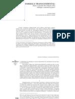 LÓGICA FORMAL E TRANSCENDENTAL. Kant e a questão das relações entre intuição e conceito no juízo (L. Codato)