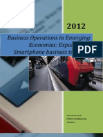 Consulting paper on Expanding a smart phone business to Brazil