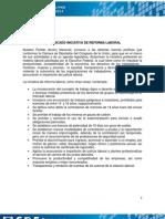 Comunicado Inciativa Reforma Laboral
