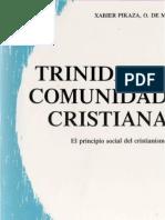 Pikaza, Xabier - Trinidad y Comunidad Cristiana