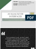 Avaliação de interfaces