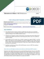 Panorama educación- México OCDE 2012