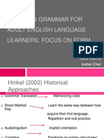 Teaching Grammar for Adult English Language Learners