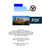 US Department of Justice (DOJ) Office of the Inspector General (OIG) Audit