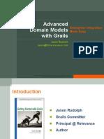 Advanced Domain Models in Grails