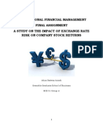 Exchange rate risks on company stock returns