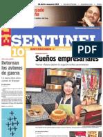 El Sentinel Publicacion 10 Aniv.-Sueños empresariales-Wara Quinua Organic Bakery-Ana Chipana