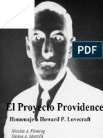 El Proyecto Providence Homenaje a Howard P Lovecraft