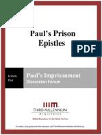 Paul's Prison Epistles - Lesson 1 - Forum Transcript
