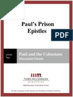 Paul's Prison Epistles - Lesson 2 - Forum Transcript