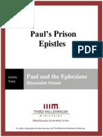 Paul's Prison Epistles - Lesson 3 - Forum Transcript
