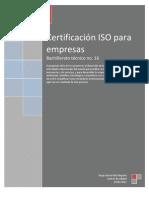 Certificacion Iso