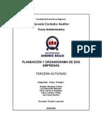 Planeacion y Organigrama de Sos Empresas