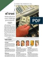 Officials' betrayal of trust