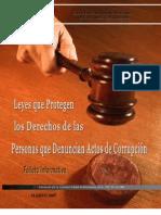 Leyes que Protegen a Personas que denuncian actos de corrupción      CEE