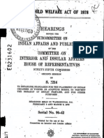 Indian Child Welfare Act of 1978, Complete Congressional Hearing Transcript, Feb 9 and Mar 9 1978
