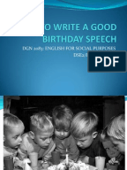 How to write a 21st speech