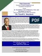 Dr. Terrell Strayhorn Speaks at Fisk University