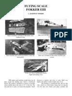 Fokker EIII Monoplane