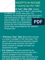 Basic Concepts in Income Tax-Ay 2012-13