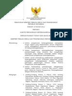 Permenaker Ttg Komite Pengawasan Ketenagakerjaan