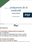 Giddens - Consequences de La Modernite