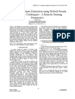 Land Cover Feature Extraction using Hybrid Swarm Intelligence Techniques - A Remote Sensing Perspective