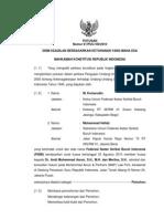 Putusan Mahkamah Konstitusi No 61 Th 2010 Tentang Ketenagakerjaan = MENOLAK SELURUHNYA