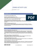 North Sac Crime Activity Log (Sept 4, 2012 – Sept 10, 2012)