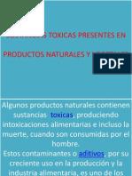 Sustancias Toxicas en Prod. Naturales