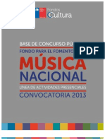 Fondart Actividades Presenciales Musica 2012-2013