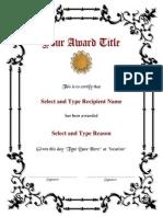 Award Template1