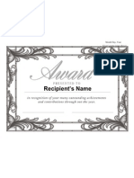 Generic Award a 4