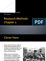 Ch 2 Notes Research Methods