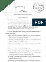 Sin Tax Bill SB-3249