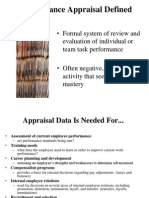 Performance Appraisal Process and Problems