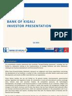 Bank of Kigali Investor Presentation Q1 &3M 2012