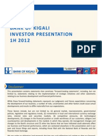Bank of Kigali Investor Presentation 1H2012