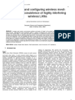 Deploying and Configuring Wireless Mesh Network in Coexistence of Highly Interfering Wireless LANs