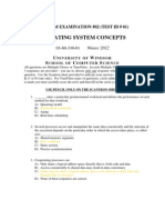 operating system concepts Test