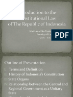 Constitutional Law in Indonesia (1)