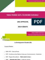 Table ronde sur l'économie durable - Foire de Corbeil-Essonnes 2012