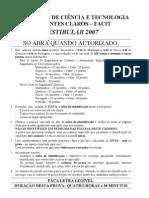 Modelode Prova Discursivas FACIT 2007