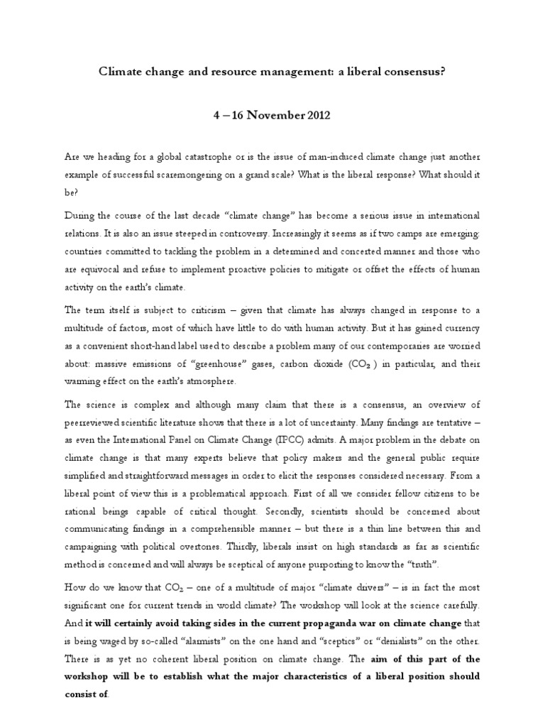 Climate Change and Resource Management Abstract ...