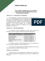 Ordenanza Fiscal Utilizacion Instalaciones Deportivas. Oficial