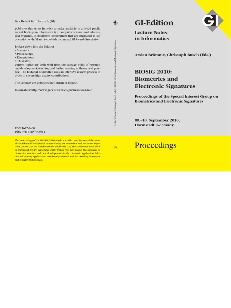 2010 biosig 2010 proceedings biometrics identity document malvernweather Choice Image