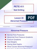 20. Abnormal Pressure